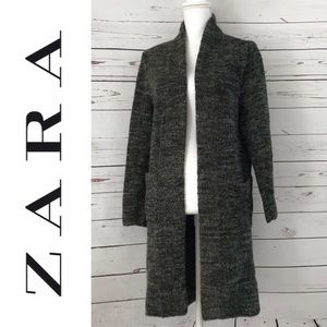 ZARA KNIT | Knit Open Cardigan Pockets Size S